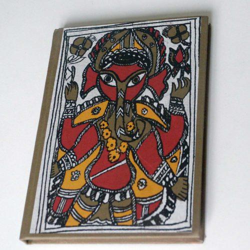 Carnet de voyage Ganesh papier fait main