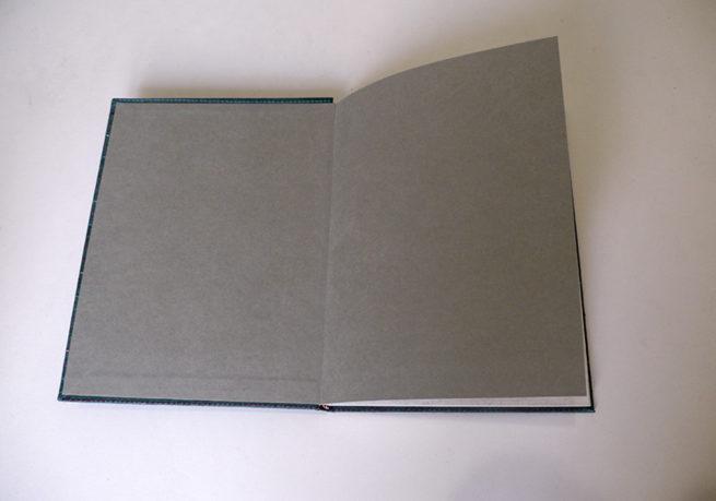 carnet de voyage kantha vert ouvert - Lokanga