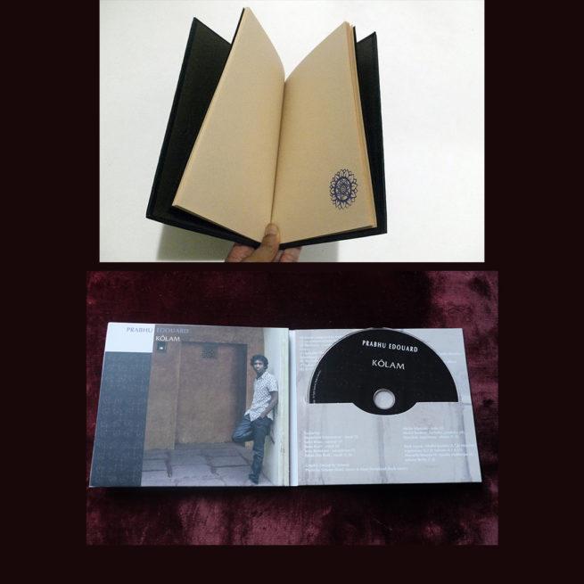 Album Kolam Prabhu Edouard - Carnet de voyage noir fait main