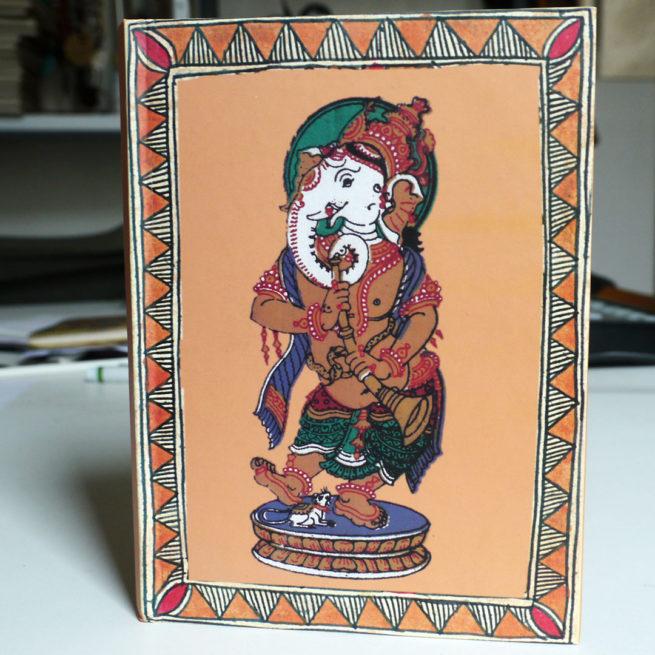 Carnet de voyage Ganesh Orissa - vue du dessus