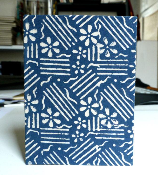 carnet de voyage couverture tissus batik - Lokanga